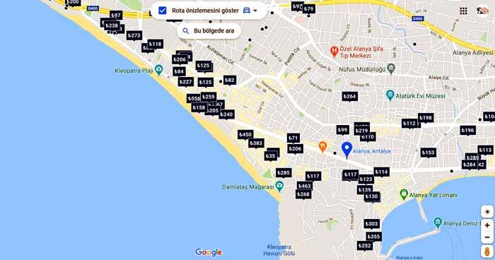 Alanya otelleri listesi