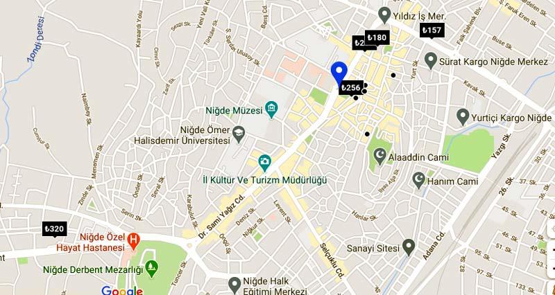niğde otel haritası ve listesi niğde gezilecek yerler
