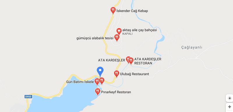 Tortum şelalesi restoranları