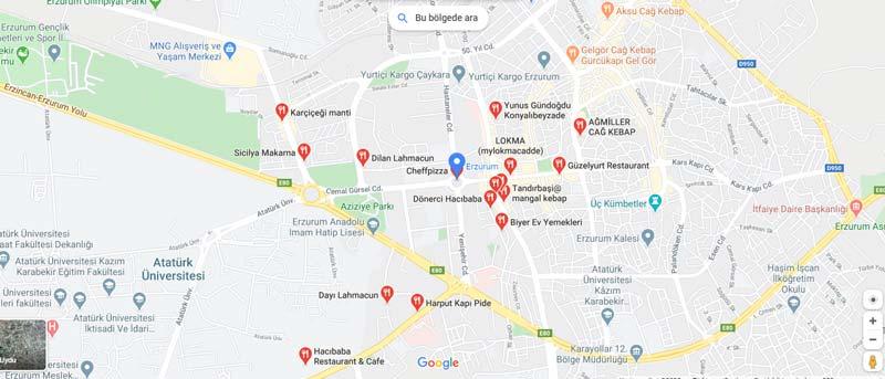 erzurum restoranları listesi