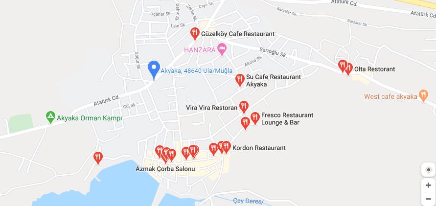 akyaka restoranları