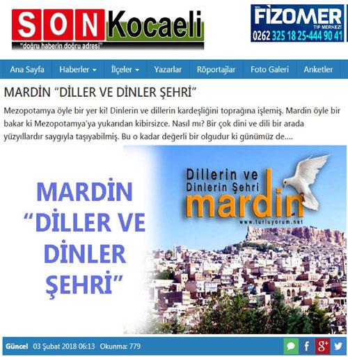 Son kocaeli gazetesi Mardin gezisi