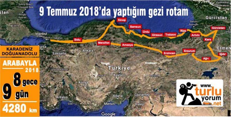 Doğuanadolu karadeniz Gürcistan rotası