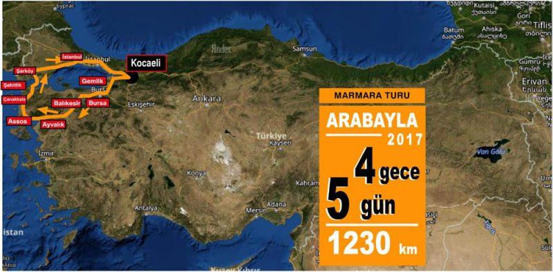 Marmara rotası 2017
