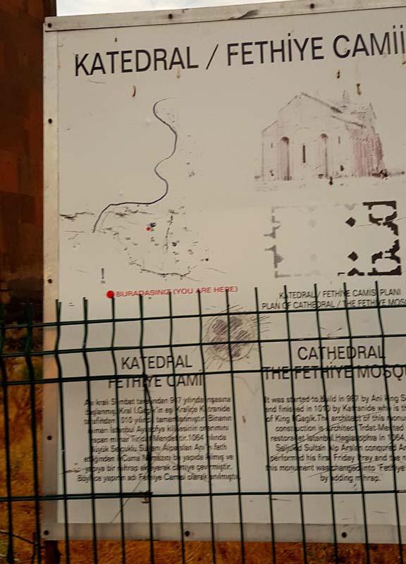 ani harabeleri katedral fethiye camii