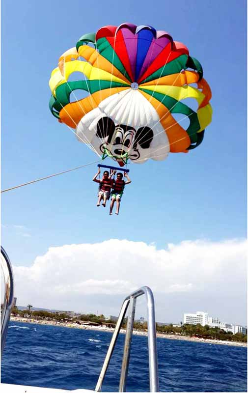 Antalya parasailing fiyatları macerası