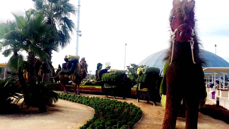 expo antalya çim heykeller
