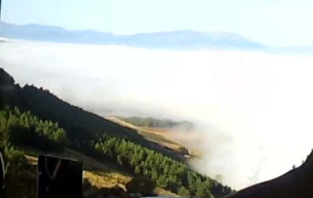 Amik ovası Hatay Asi Nehri üzeri bulutlar. Rakım 1400
