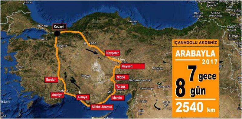 İç Anadolu Akdeniz Rotası