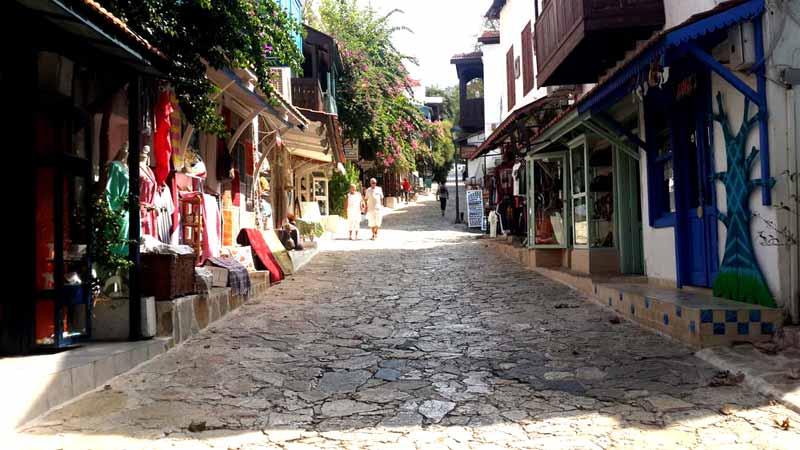 kaş-antalya sokakları
