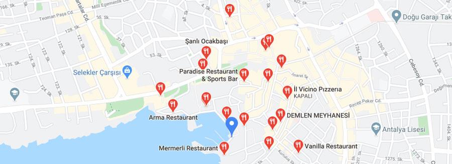 Antalya Kaleiçi restoran ve lokantaları