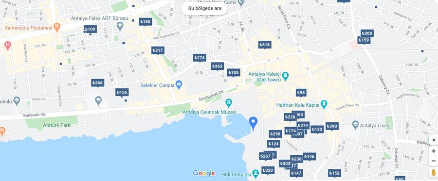 Antalya kaleiçi pansiyon ve otel fiyatları