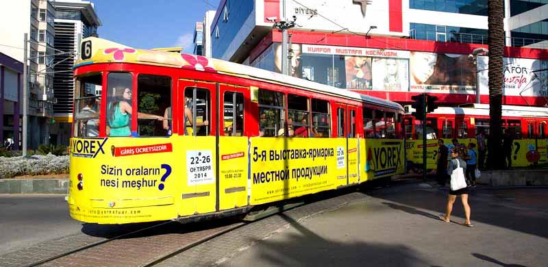 antalya-tramvayı kaleiçi ve konyaaltı
