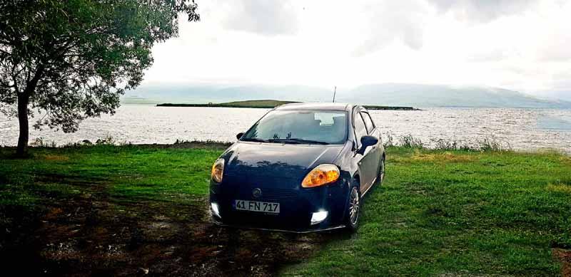 fiat-punto-çıldır-gölü