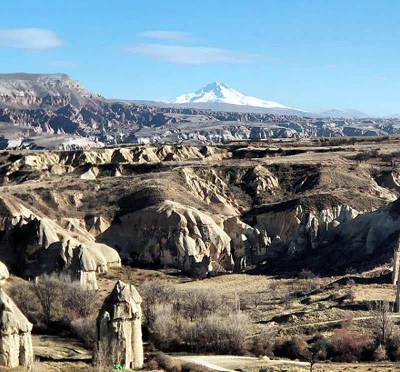 kapadokya'dan-erciyes-dağı kapadokya gezilecek yerler