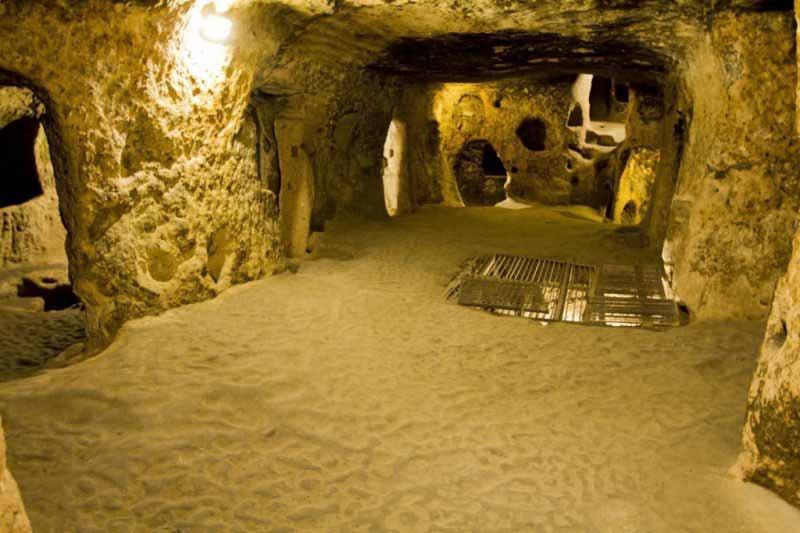 kaymaklı-yeraltı-şehri kapadokya gezilecek yerler