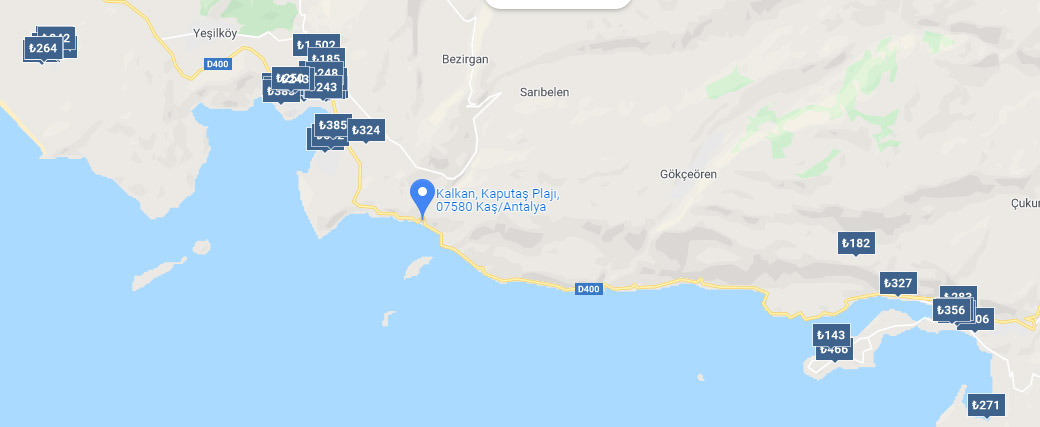 Kaputaş plajı otelleri