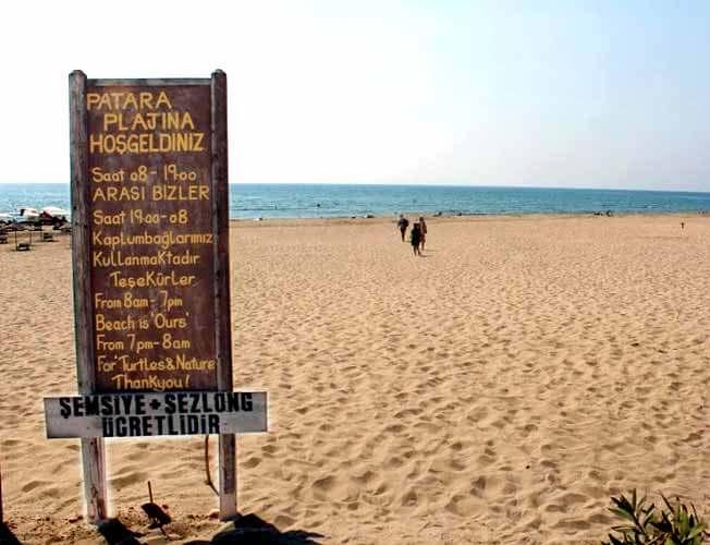 patara plajı giriş ücretleri