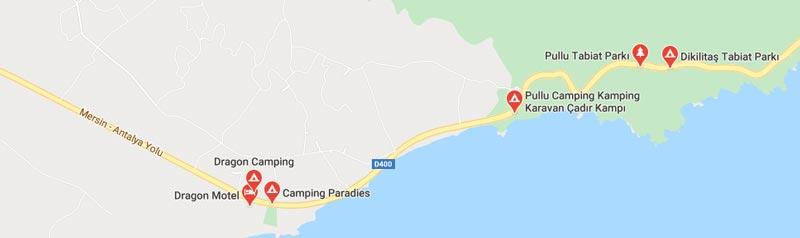 anamur kamp alanları haritası