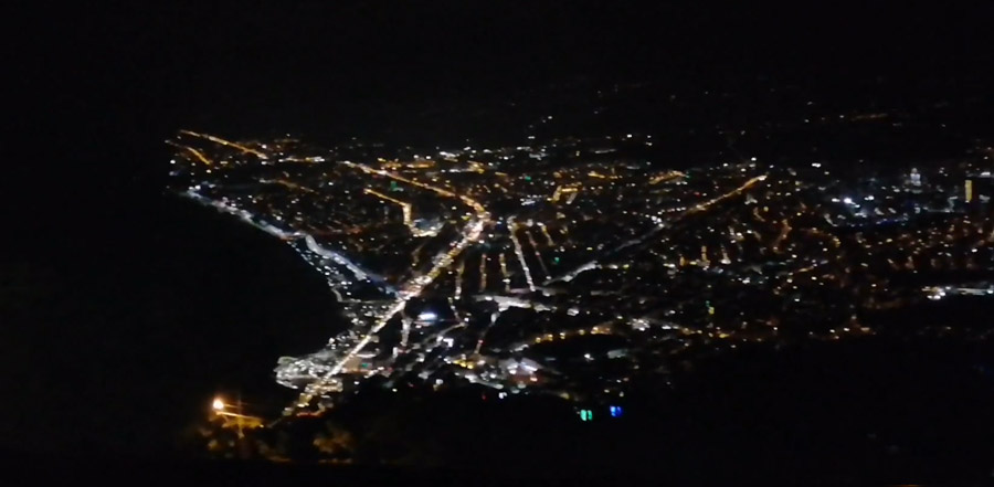 boztepe gece manzarası
