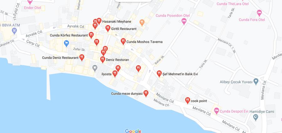 cunda adası restoranları
