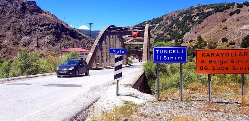 Mutu Köprüsü tunceli gezilecek yerler