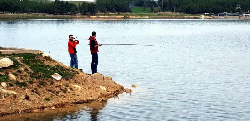 Gelitözü Göletinde balık turnuvası