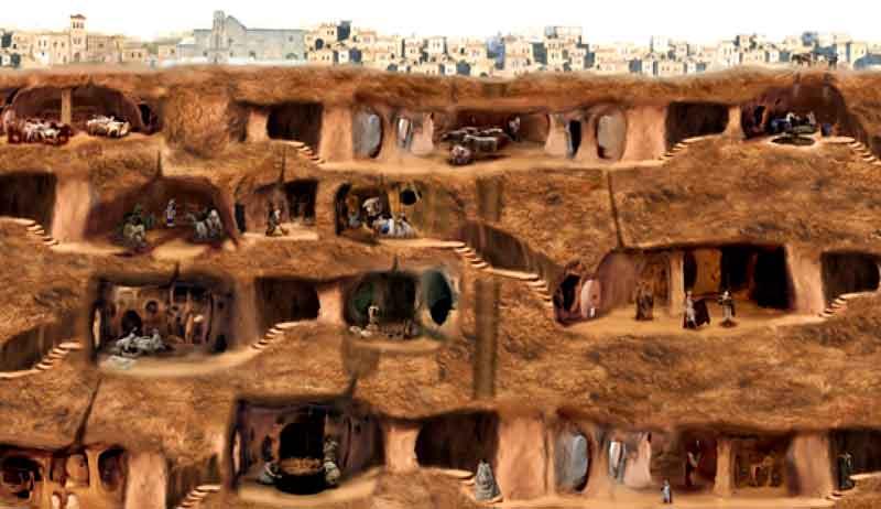 kapadokya yeraltı şehirleri ile ilgili görsel sonucu