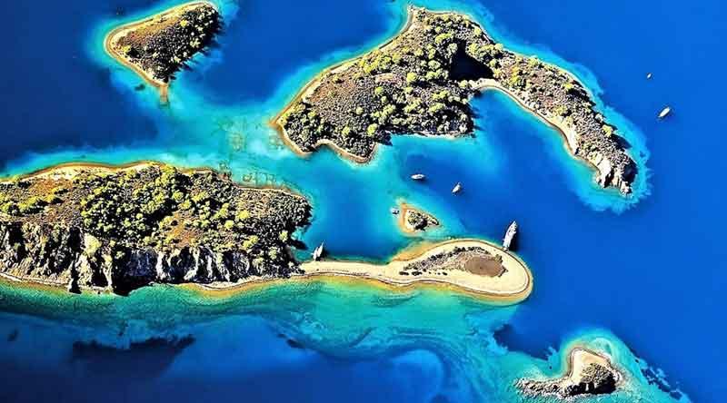 Yassı ada kaşık adası fethiye. ege akdeniz
