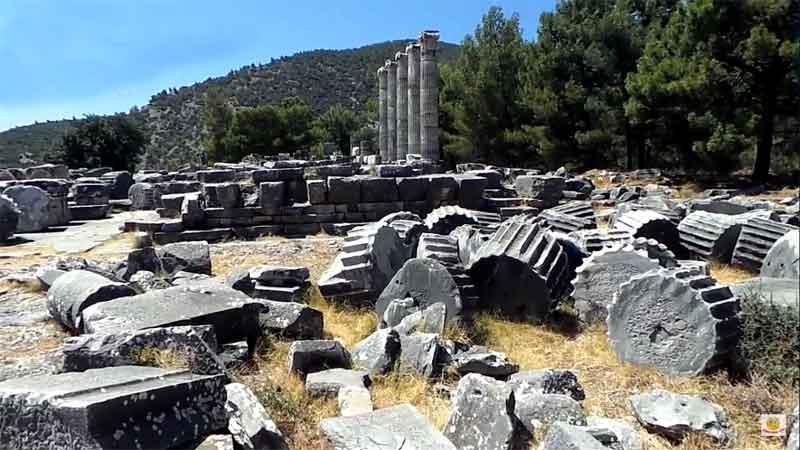 piriene-antik-kent-didim plajları ve tarihi yerleri