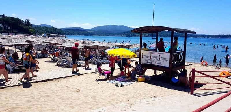 Kerpe plajı can kurtaran