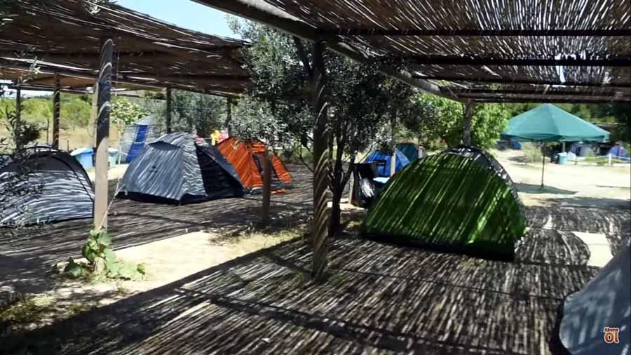 bozcaada çadır kampları
