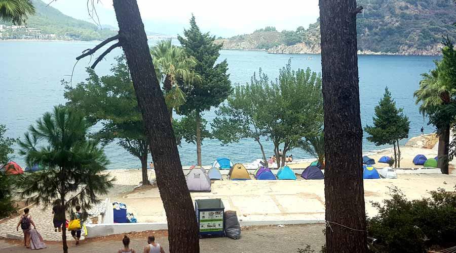 içmeler ücretsiz kamp alanı