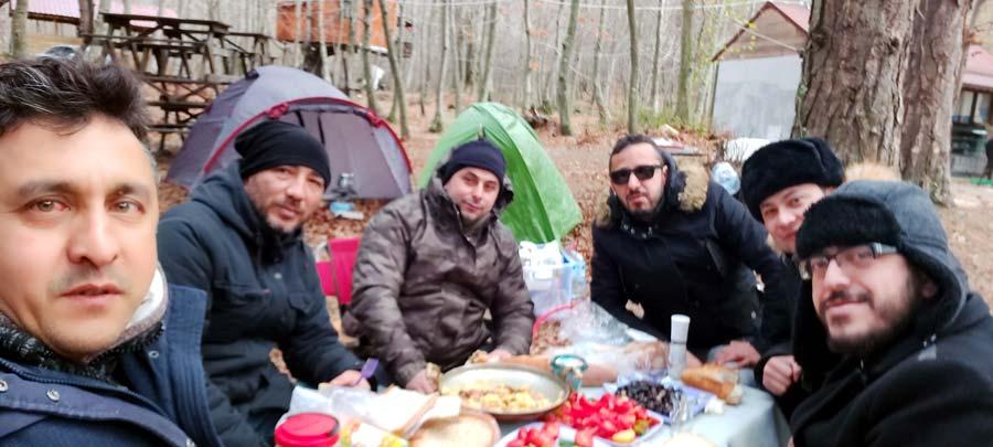 Yalova erikli çifte şelale kış kampı