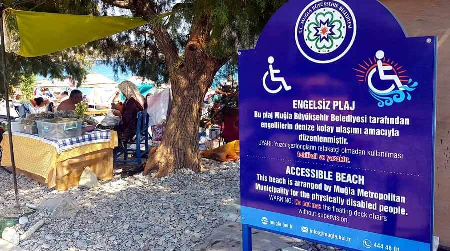 Palamutbükü engelli plajları