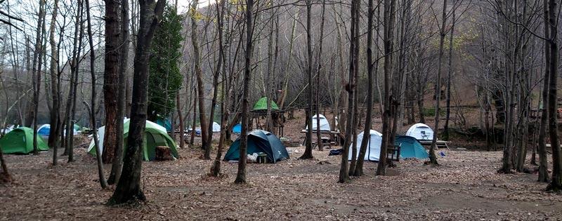 Erikli çifte şelale kış kampı