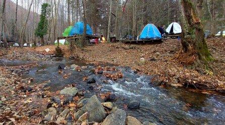 Yalova Erikli Şelale kampı kış gezi notları