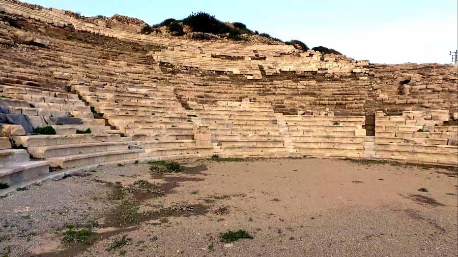 knidos antik kent tiyatrosu
