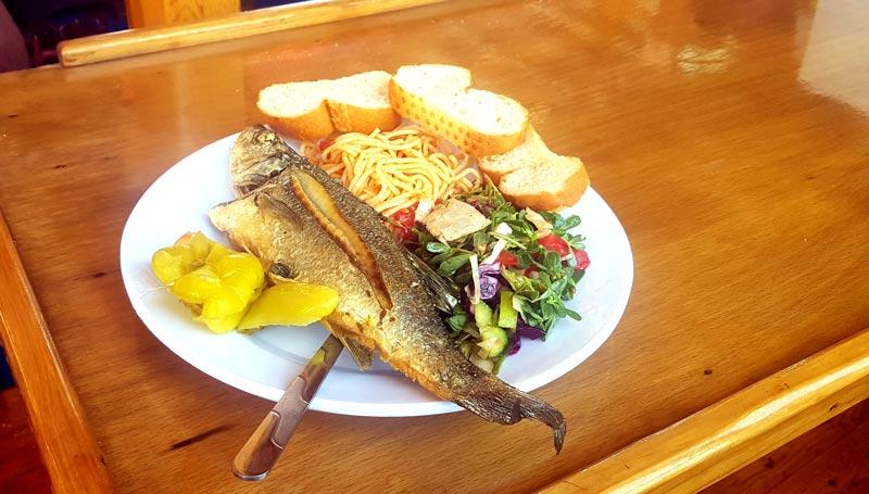 suluada tekne turu yemek menüsü