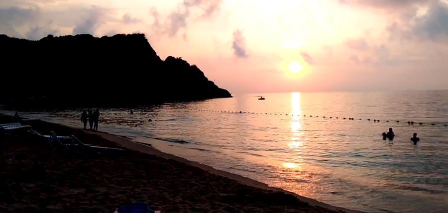 Amasra çakraz plajı gün batımı