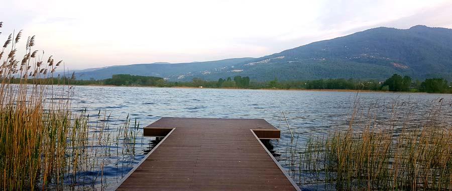 seka kamp alanı gölde yüzmek