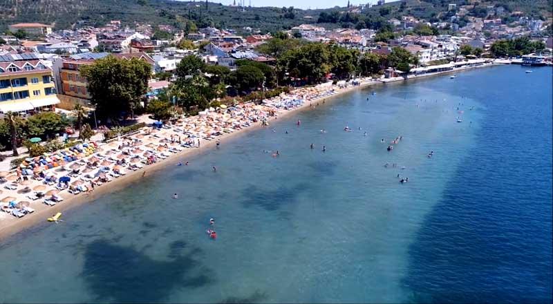 mavi bayraklı erdek plajları