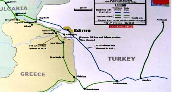 karaağaç tren istasyonu harita