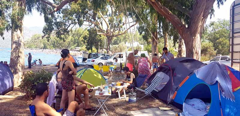 Marmaris Hisar önü ücretsiz kamp alanı